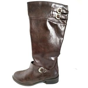 Knee High Fashion Fall Boots Brown Size 6.5 M